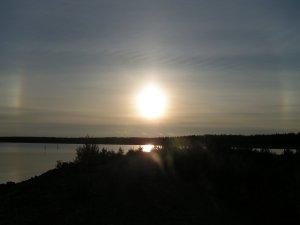 The sun and halos